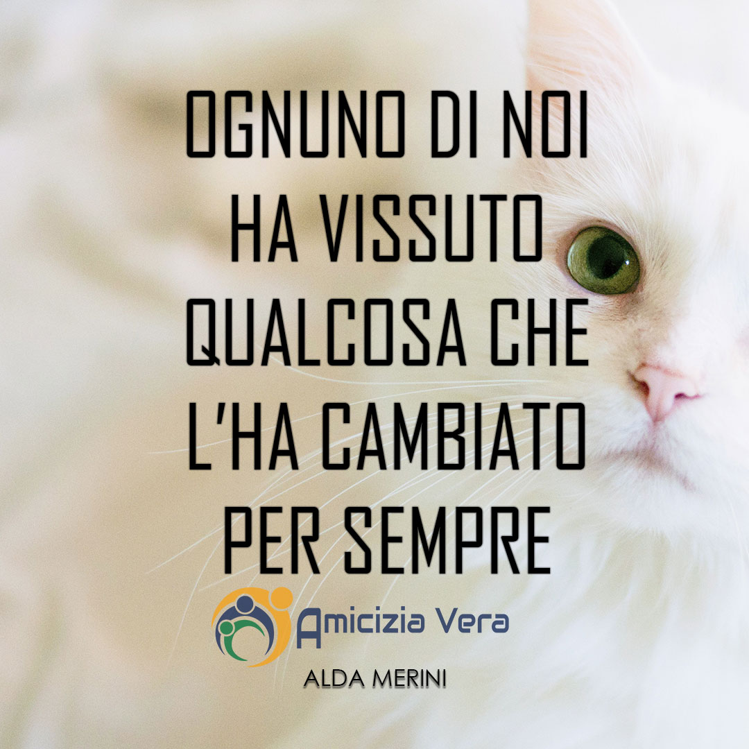 Ognuno di noi ha vissuto qualcosa che l'ha cambiato per sempre - Alda Merini -