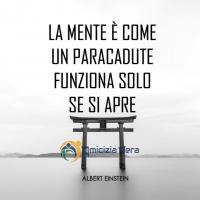 La mente è come un paracadute: funziona solo se si apre - Albert Einstein -